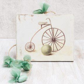 Μπομπονιέρα Βάπτισης Καδράκι με Ποδήλατο G14-102039