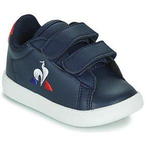 Xαμηλά Sneakers Le Coq Sportif COURTSET INF ΣΤΕΛΕΧΟΣ: Δέρμα και συνθετικό & ΕΠΕΝΔΥΣΗ: Ύφασμα & ΕΣ. ΣΟΛΑ: Ύφασμα & ΕΞ. ΣΟΛΑ: Καουτσούκ