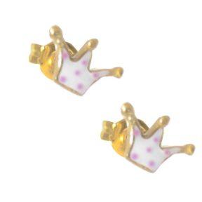 Παιδικά χειροποίητα σκουλαρίκια από επιχρυσωμένο ασήμι