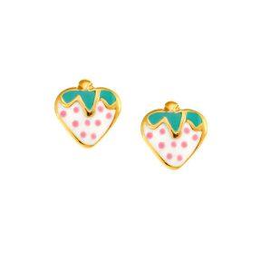 Παιδικό μοντέρνο ζευγάρι σκουλαρίκια από χρυσό Κ14