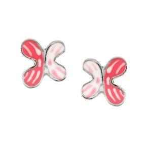Παιδικό ζευγάρι σκουλαρίκια από ασήμι με σμάλτο