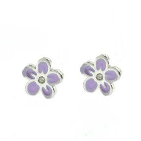 Παιδικά σκουλαρίκια από ασήμι λουλουδάκια