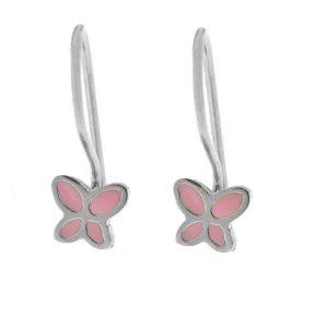 Παιδικά σκουλαρίκια από ασήμι πεταλούδες