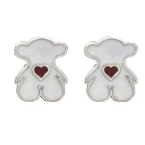 Παιδικό ζευγάρι σκουλαρίκια καρφωτό από ασήμι 925 με αρκουδάκι