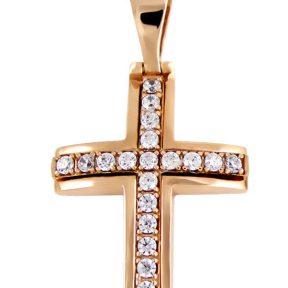 Σταυρός 14Κ από Χρυσό με Ζιργκόν SIO50211Β