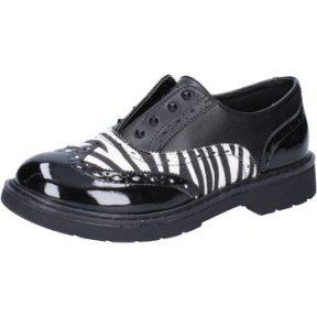 Xαμηλά Sneakers Enrico Coveri classiche nero pelle bianco vernice AD964