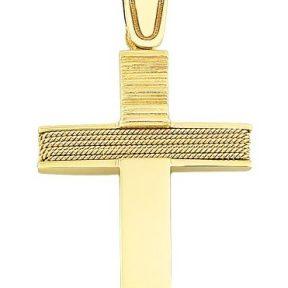 Σταυρός από Χρυσό 14Κ SIO12266