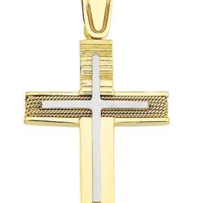 Σταυρός από Χρυσό 14Κ SIO12366