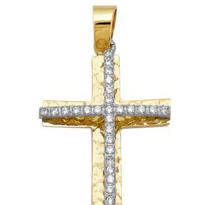 Σταυρός από Χρυσό 14Κ με πέτρες SIO12803