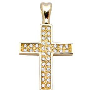 Σταυρός από Χρυσό 14Κ με πέτρες SIO12813