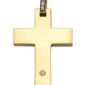 Σταυρός από Χρυσό 14Κ με πέτρες SIO13869