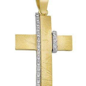 Σταυρός από Χρυσό 14Κ με πέτρες SIO15627
