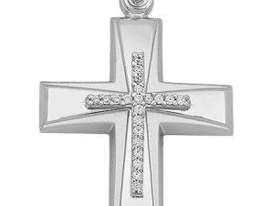 Σταυρός από Χρυσό 14Κ με πέτρες SIO15827